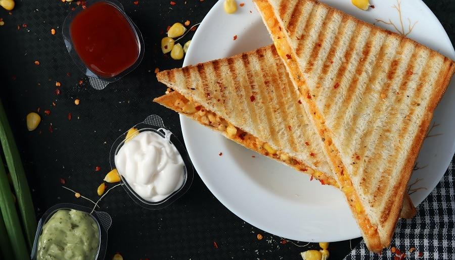 Snack aus dem Sandwichmaker